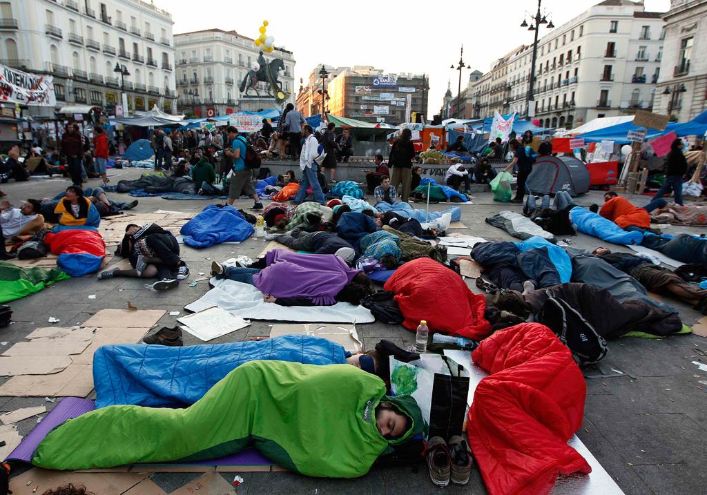 Na capital espanhola as acções de protesto já começaram há dias
