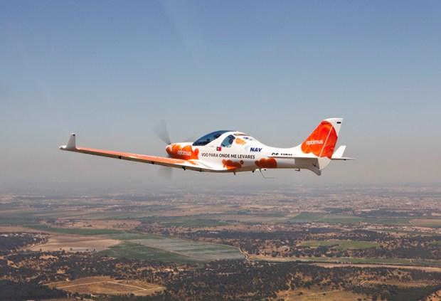 A rota aérea foi realizada em três Dynamic WT9
