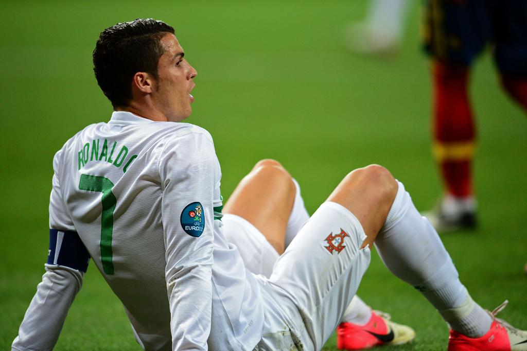 Cristiano Ronaldo à espera do resultado dos penalties