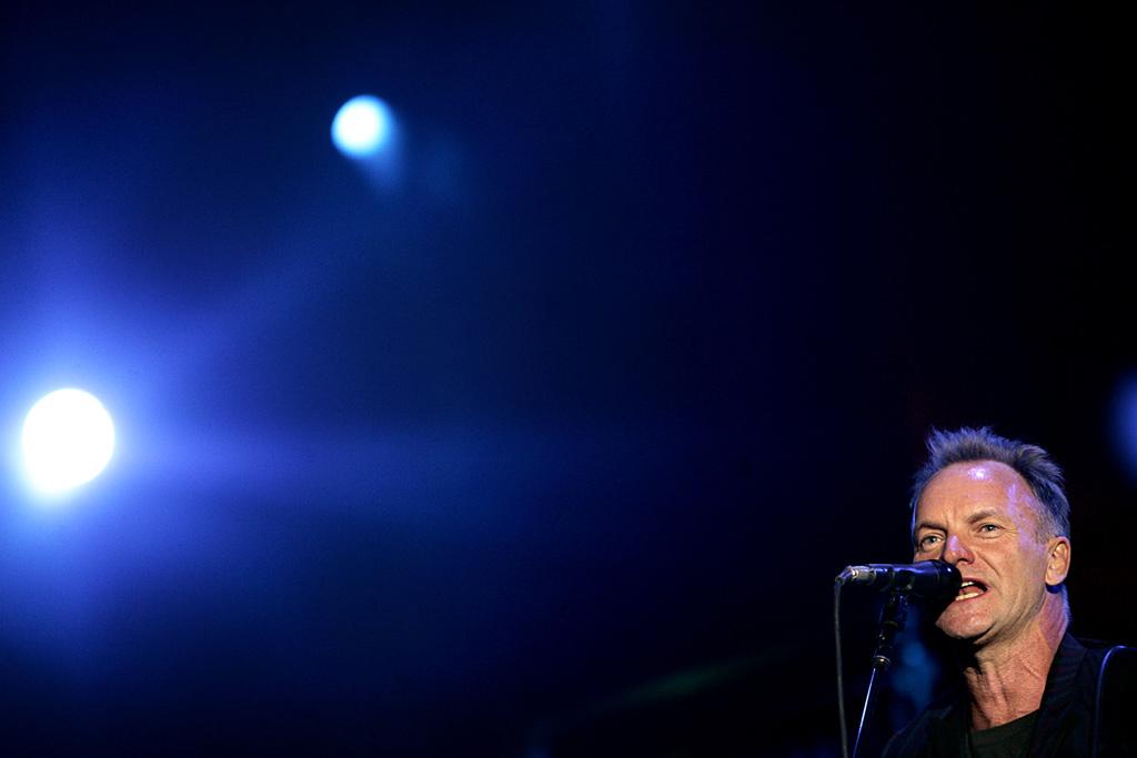 Sting actua esta sexta-feira no Parque dos Poetas, em Oeiras