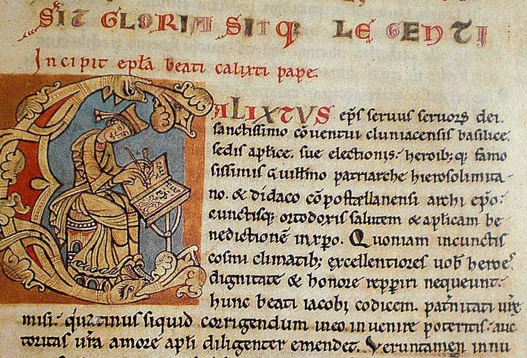 Pormenor de uma página do Códice Calixtino