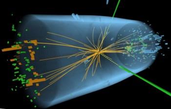 Um gráfico que mostra as colisões de partículas no Compact Muon Solenoid