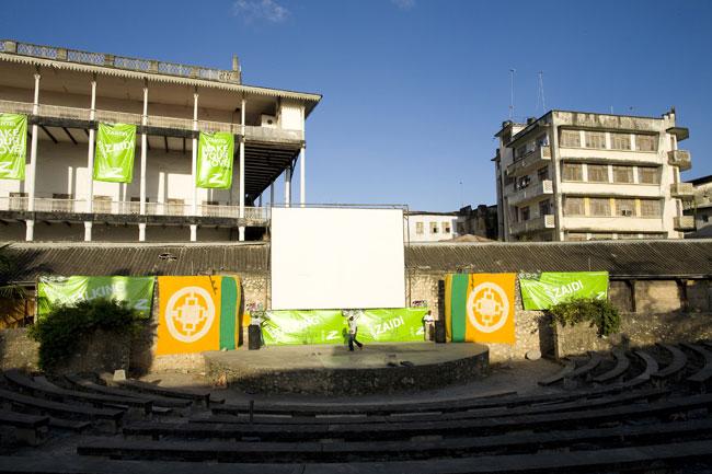 No Forte Árabe, um dos mais importantes de África, onde se realiza o festival de Sauti Za Busara (