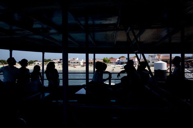 Ilha da Armona. No barco para a travessia