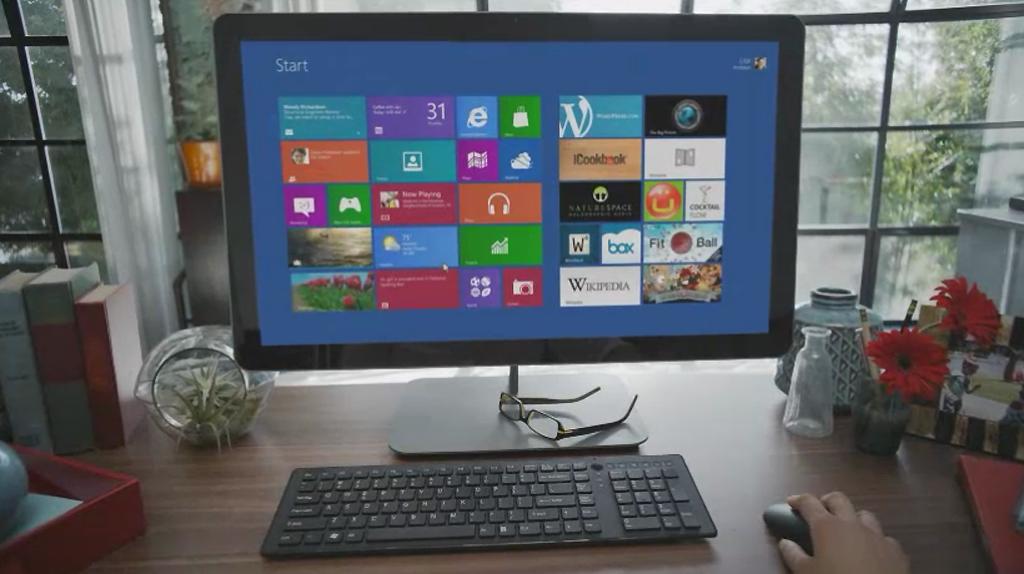 Uma das imagens do vídeo de promoção do Windows 8