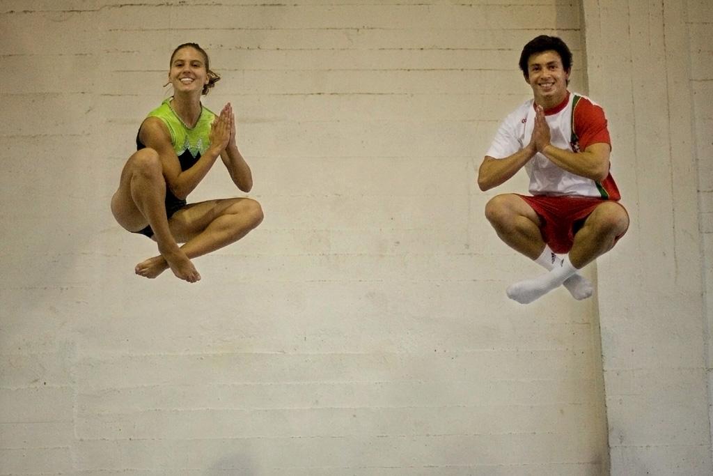 <p>Ana Rente e Diogo Ganchinho repetem em Londres a presença de Pequim, há quatro anos</p>