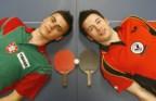 Tiago Apolónia e João Monteiro são dois dos mesatenistas portugueses em Londres
