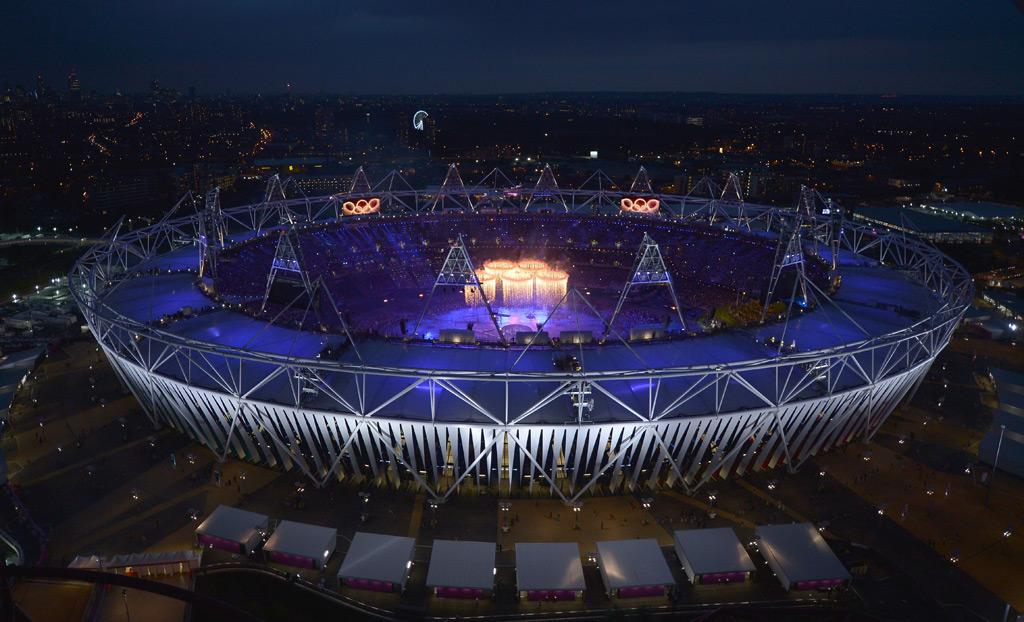 Wiggins tocou o sino no início da cerimónia de abertura dos jogos Olímpicos