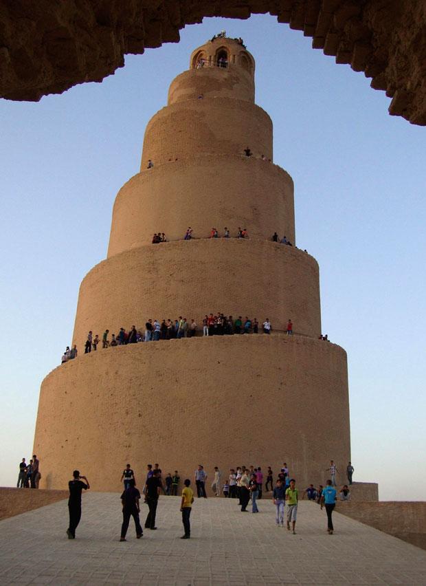 Iraque, 30.08.2011 | De visita ao Minarete em Espiral da Grande Mesquita de Samarra, a 100km norte de Bagdad.