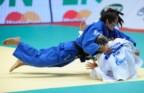 A japonesa Kaori Matsumoto (aqui num dos combates que já fez com Telma Monteiro) é conhecida pela forma agressiva como combate