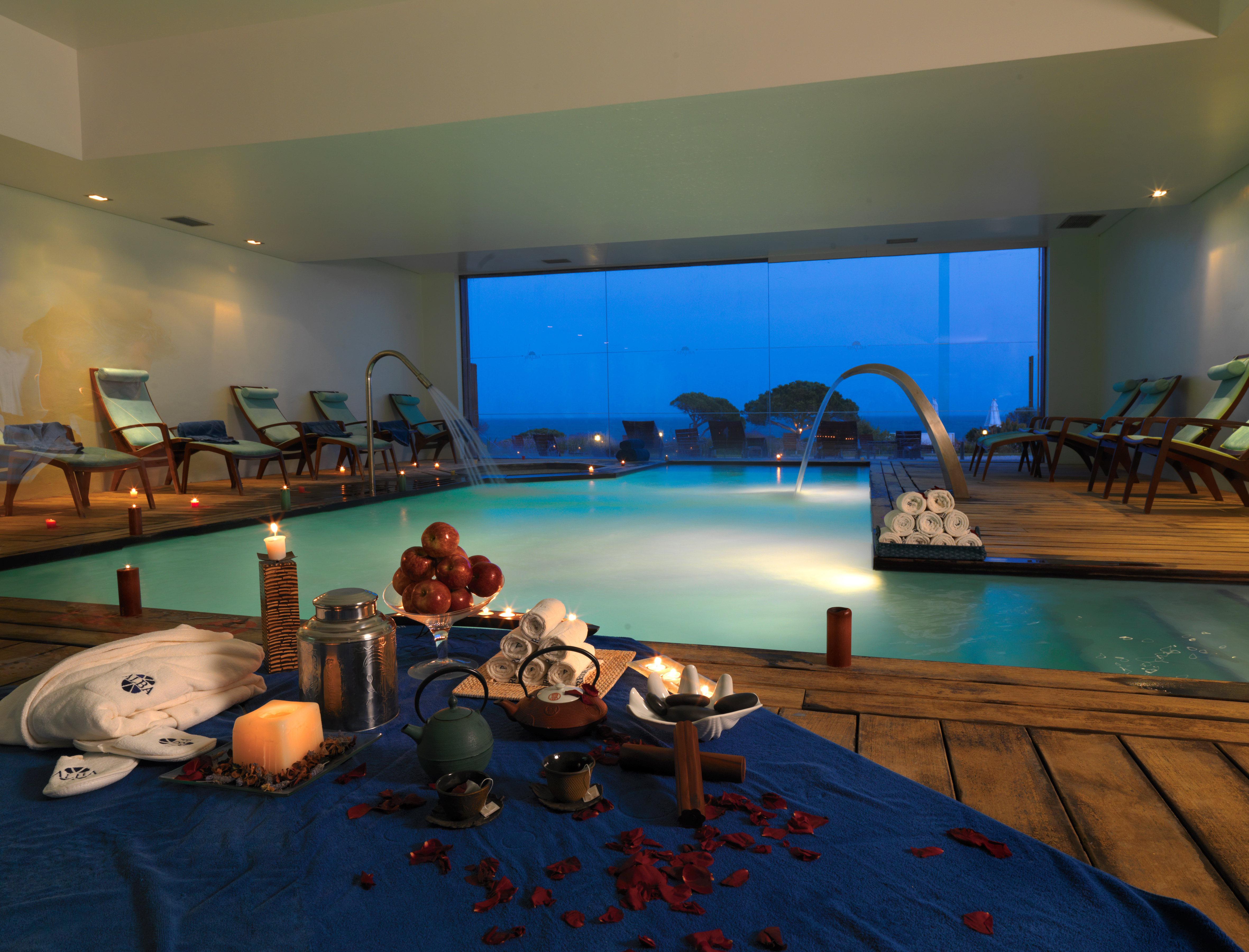 A piscina interior