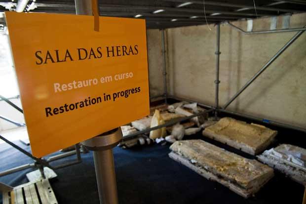 A Sala das Heras é a primeira divisão a ser restaurada (em obras até ao final do ano)