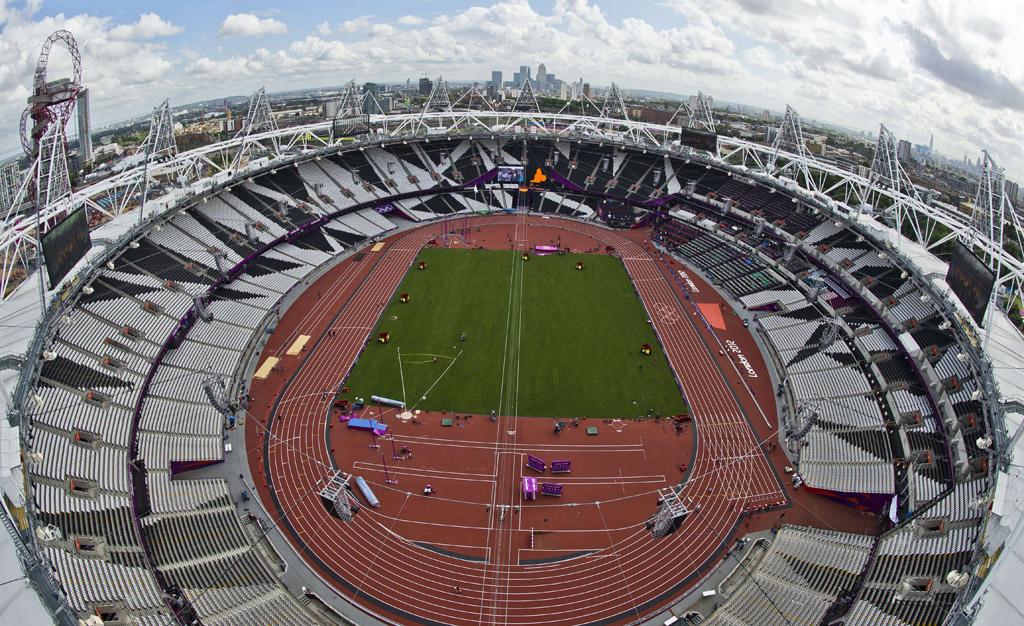 <p>O estádio olímpico pronto para receber o atletismo</p>