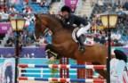 Luciana Diniz e o cavalo Lennox, em Greenwich Park
