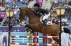 Luciana Diniz e o cavalo Lennox