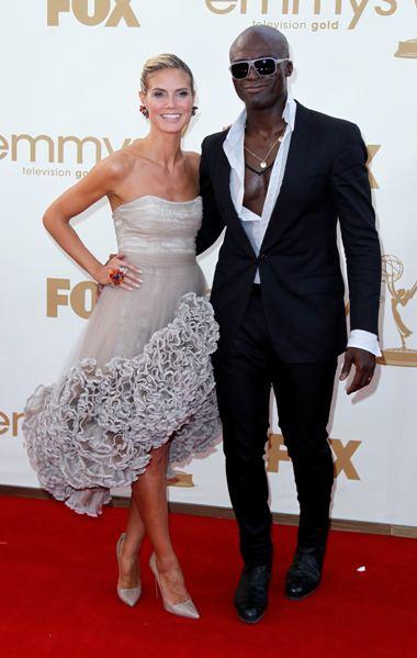 A apresentadora de televisão Heidi Klum e o marido, o cantor Seal
