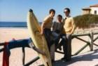 1983, S. Pedro de Moel, com o meu pai e o meu irmão. Também outra paixão que se mantém ainda hoje: o surf.
