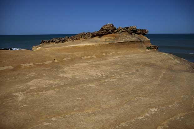 À Praia de São Lourenço.