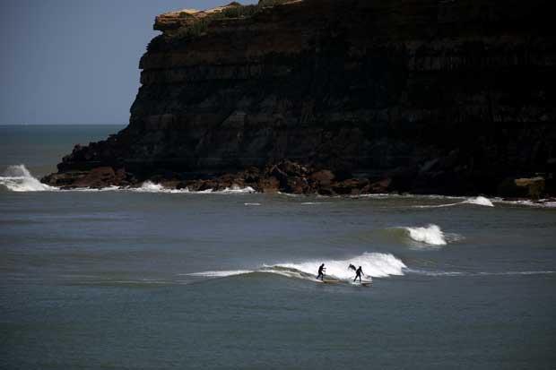 Praia de São Lourenço.