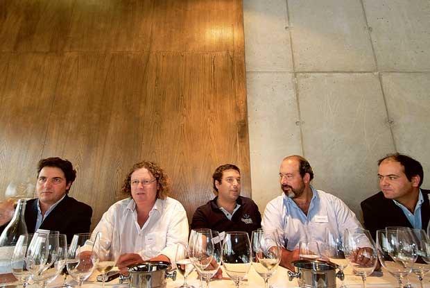 Francisco Ferreira (Vallado), Dirk Niepoort (Niepoort), Tomás Roquette (Crasto), Cristiano Van Zeller (Vale D. Maria) e Francisco Olazabal (Vale Meão)