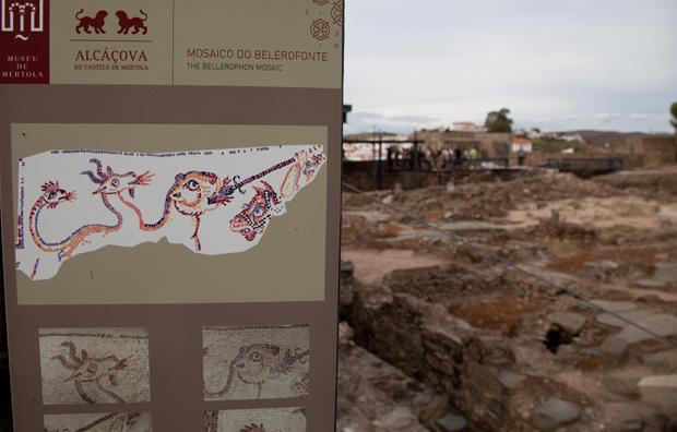 Alcáçova do Castelo, parte do campo arqueológico de Mértola.