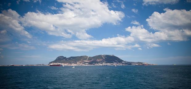 A caminho de Marrocos, atravessando o estreito de Gibraltar.
