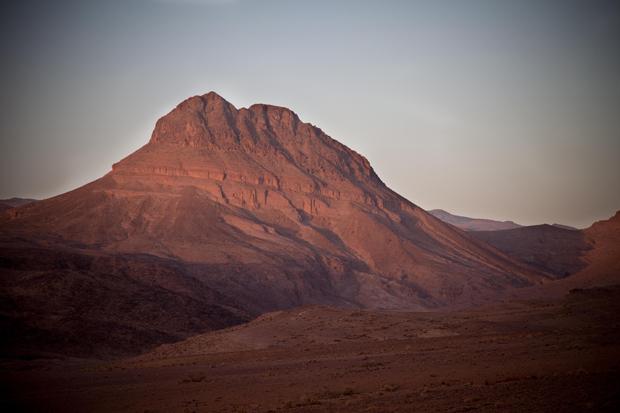 Aproximando-nos do deserto em Nekob.
