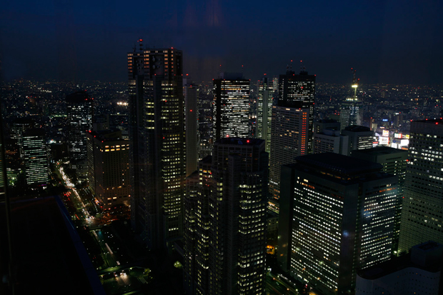"""Do 52º andar do Hotel Park Hyatt a vista é assombrosa. Foi neste hotel - um dos mais luxuosos da cidade –  que parte da acção do filme """"Lost in Translation"""", de Sofia Coppola, foi filmada. É usado com frequência para local de entrevistas com as estrelas de Hollywood aquando do lançamento de novas películas no Japão."""