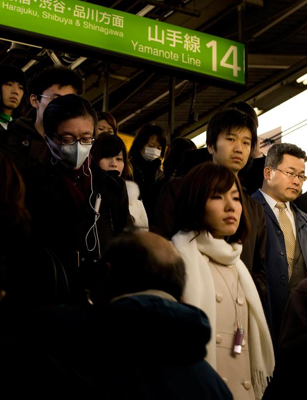 Estação de metro em Shinjuku, a estação mais movimentada do mundo.