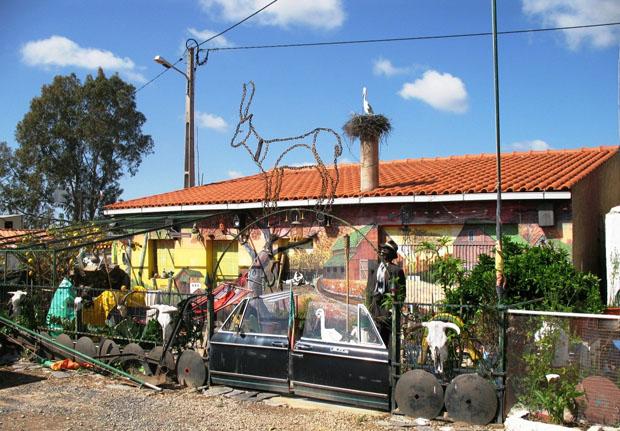 Alentejo, Mértola, casa perto das minas de S. Domingos.
