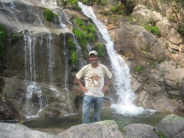Nuno Ferreira na Cascata de Cela Cavalo, Montalegre.