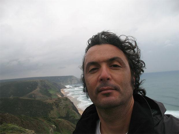 Nuno Ferreira, no Miradouro da Barriga, Vila do Bispo.