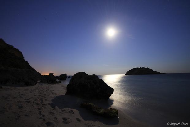 Lua Cheia no Portinho da Arrábida.