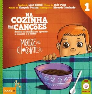 """O primeiro volume de """"Na cozinha das Canções""""."""