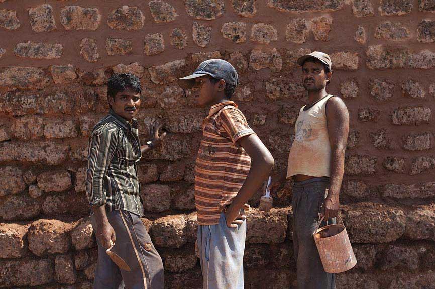 Pedreiros na Velha Goa