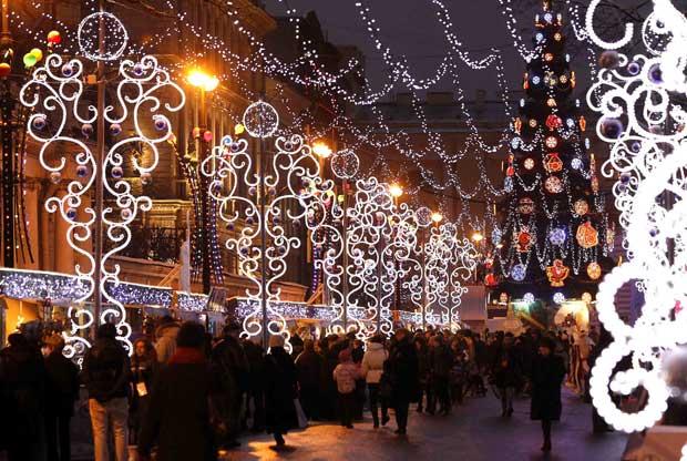 Rússia. Feira de Natal em São Petersburgo