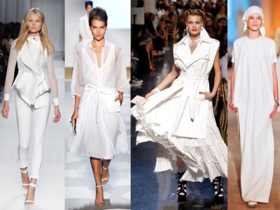 Branco Total Givenchy, Diane Von Furstenberg, Jean Paul Gaultier e Hermès.