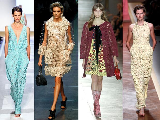 Renda Diane Von Furstenberg, Dolce & Gabbana, Miu Miu e Valentino.