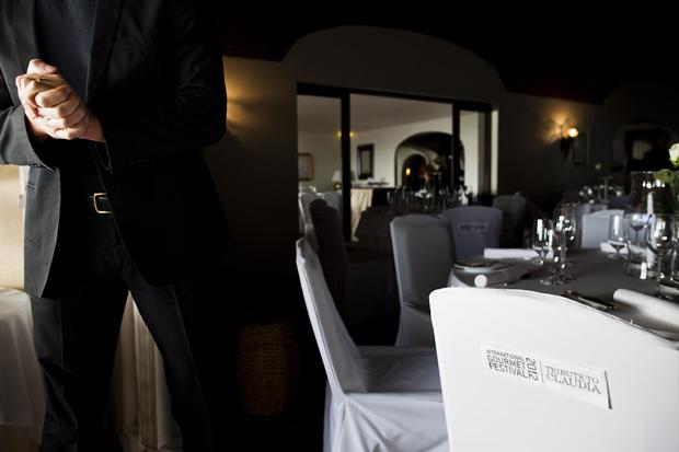 A sala de refeições do restaurante