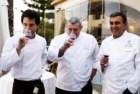 Os chefs José Avillez, Cordeiro e Albano Lourenço na prova de vinhos do International Gourmet Festival - Tribute to Claudia 2012