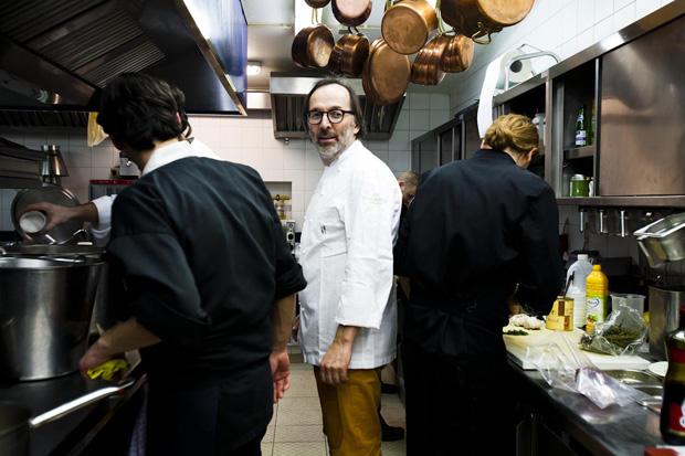 Norbert Niederkofler(duas estrelas Michelin) um chef que nunca faltou ao apelo de Koschina para esta noite especial no International Gourmet Festival