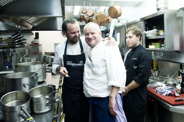 Oalemão Mario Lohninger, um dos mais bem-dispostos dos amigos chefs deDieter Koschina