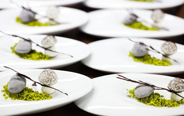 Rochas e cogumelosfoi aúltima sobremesa do menu