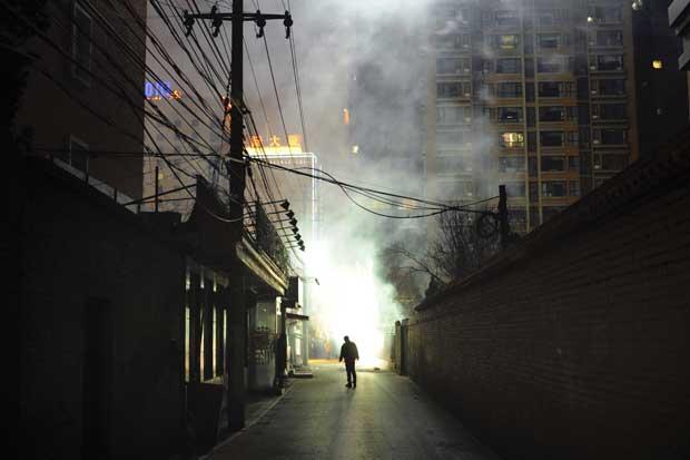 CHINA. Pirotecnia sobre Pequim