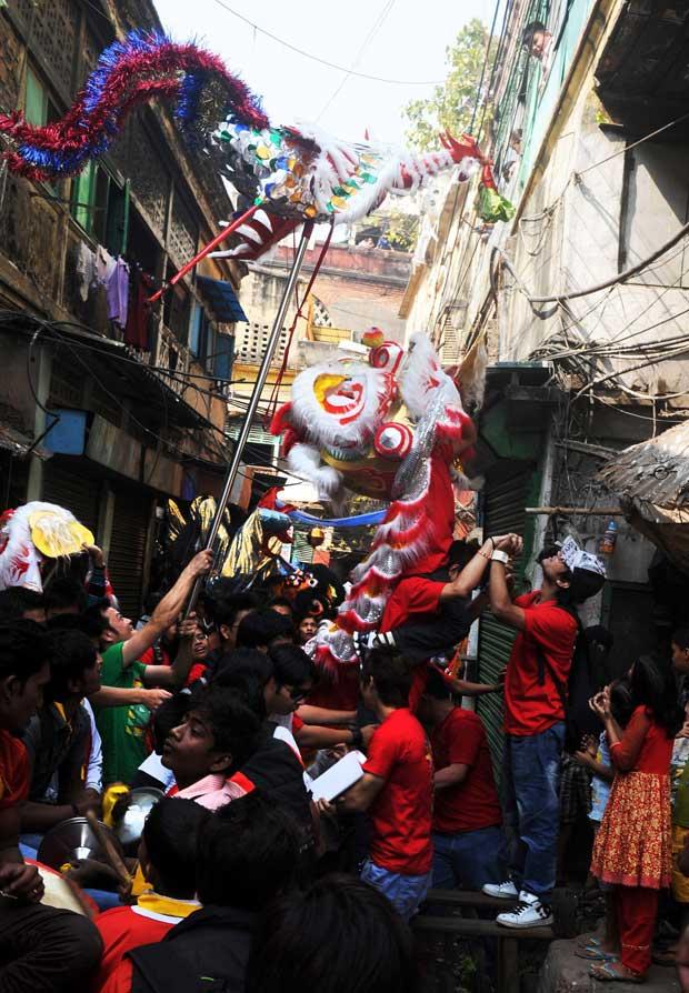 ÍNDIA. A comunidade chinesa celebra o novo ano em Calcutá