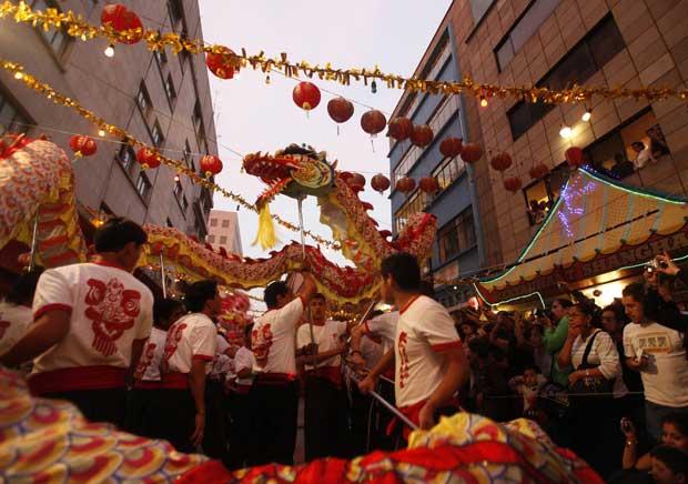 MÉXICO. A dança do dragão na Cidade do México