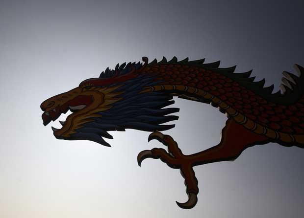 NEPAL. A silhueta do dragão em Katmandu