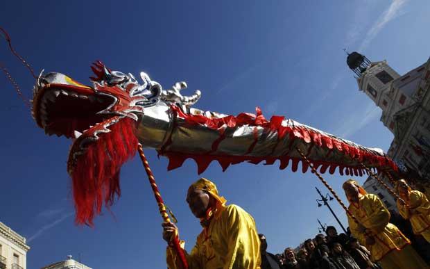 ESPANHA. O dragão a tomar também as ruas de Madrid