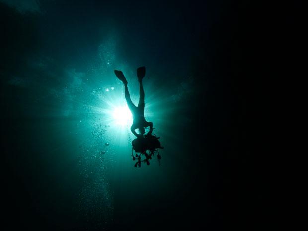 CUBA. 24.01.2012. Em La Cueva de los Peces, costa da Playa Girón, perto da Baía dos Porcos.