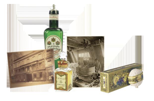 Alguns dosbestsellers da Roger&Gallet:a água-de-colónia, o perfume e o sabonete